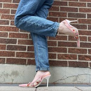 Vintage Aldo embroidered heels
